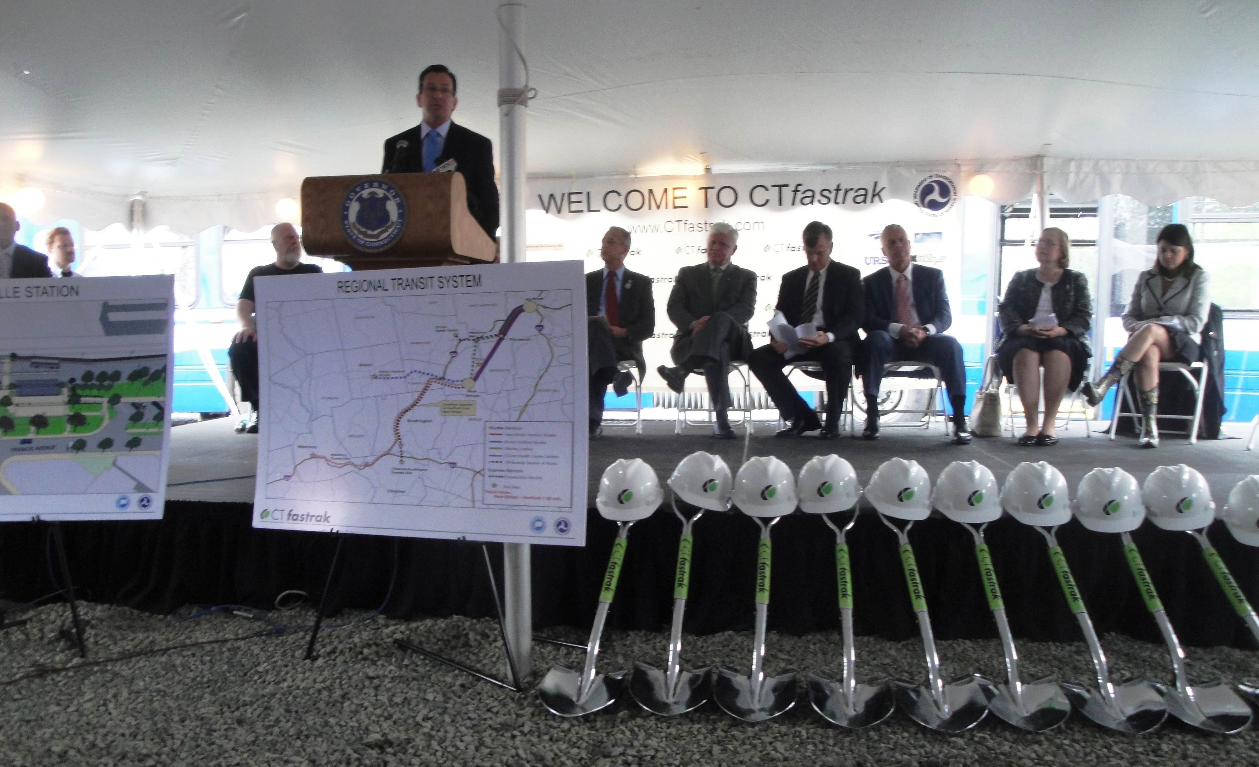 Governor Malloy speaking at the groundbreaking