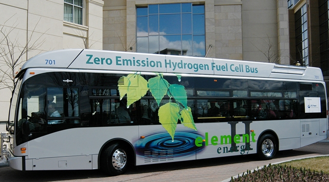 A fuel cell bus in Connecticut Photo: Connecticut Hydrogen-Fuel Cell Coalition