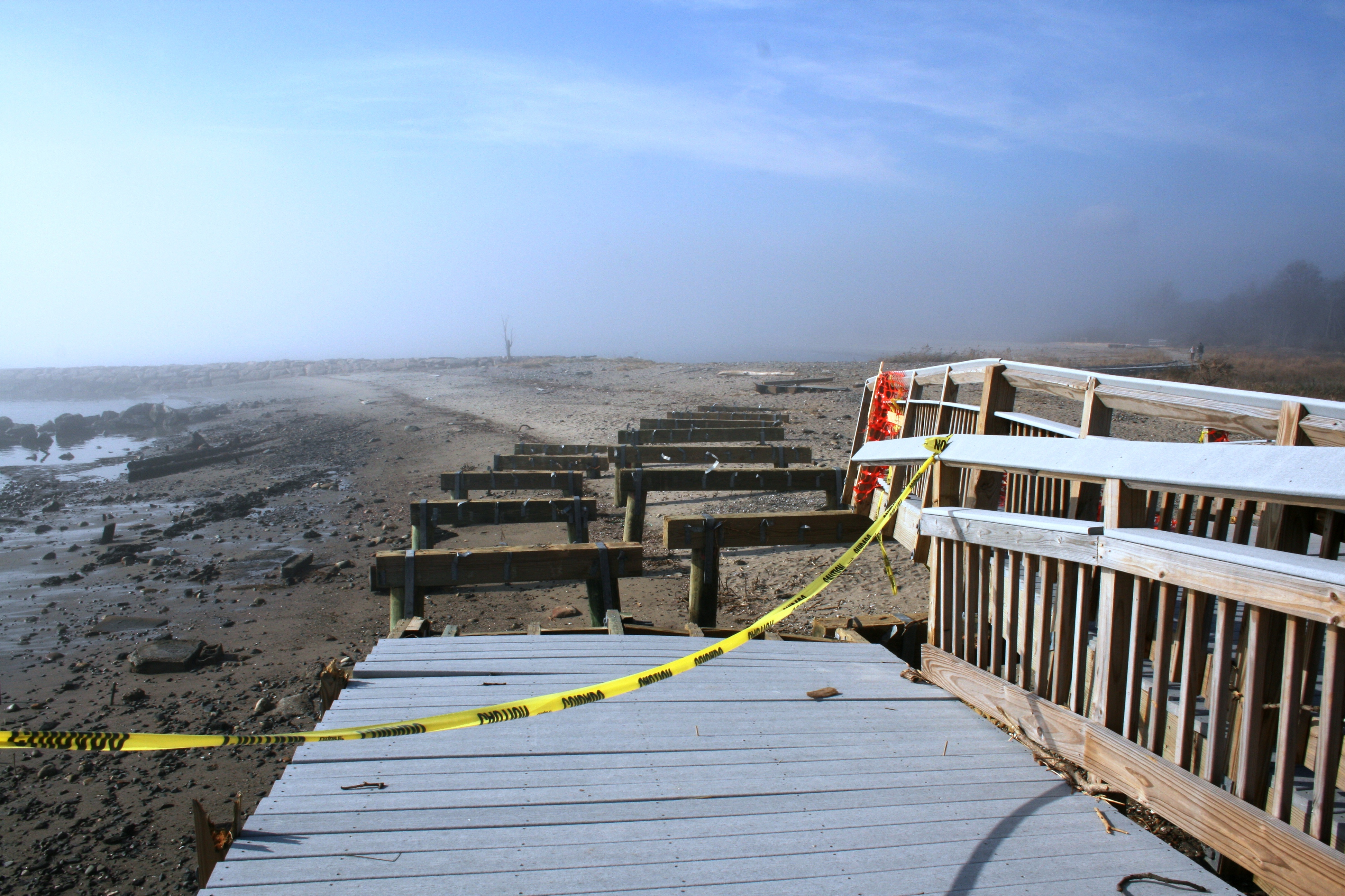 Silver Sands State Park in Milford after Hurricane Sandy