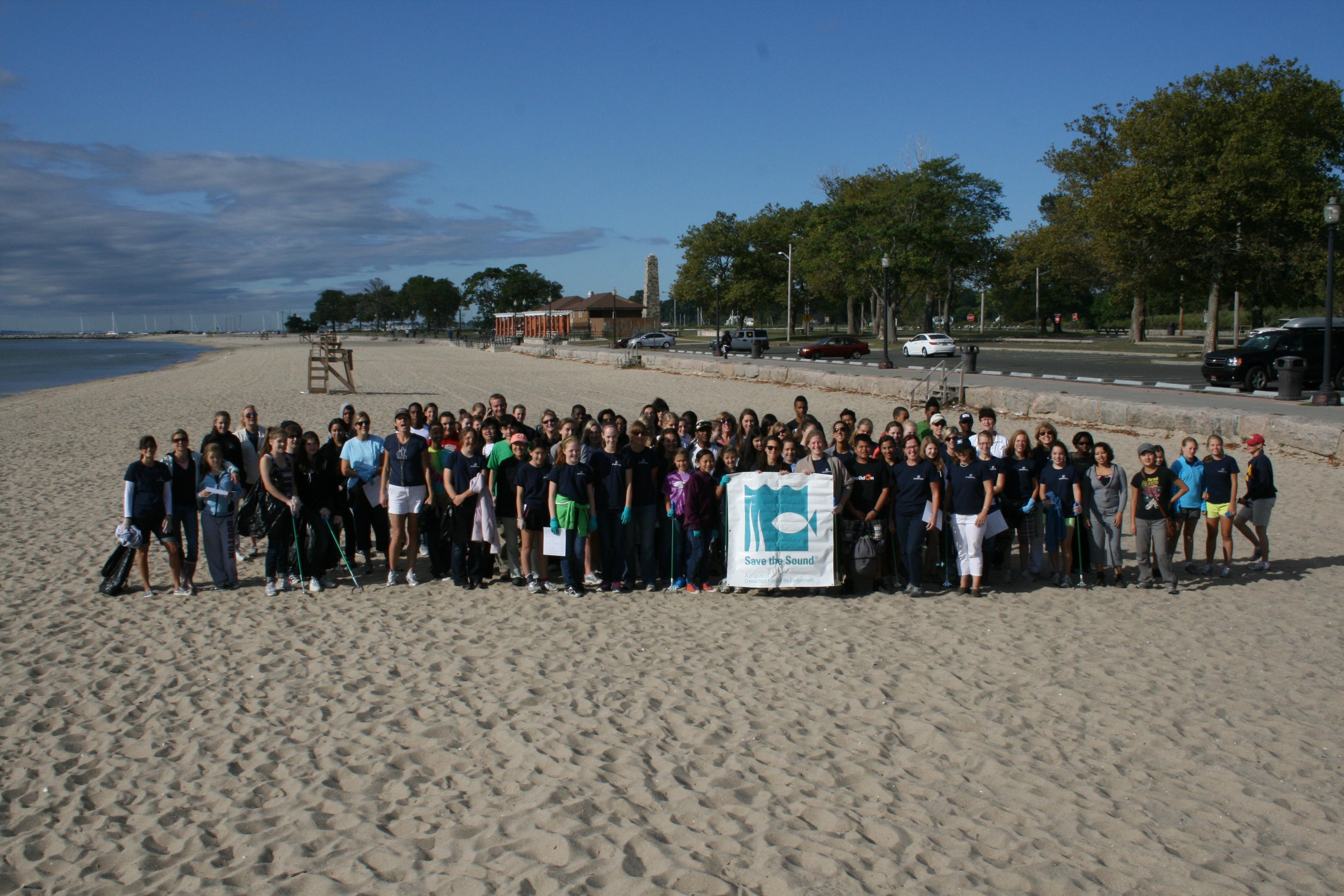 Seaside Park cleanup volunteers in Bridgeport