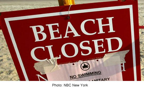 Beach Closed sign (NBC NY)