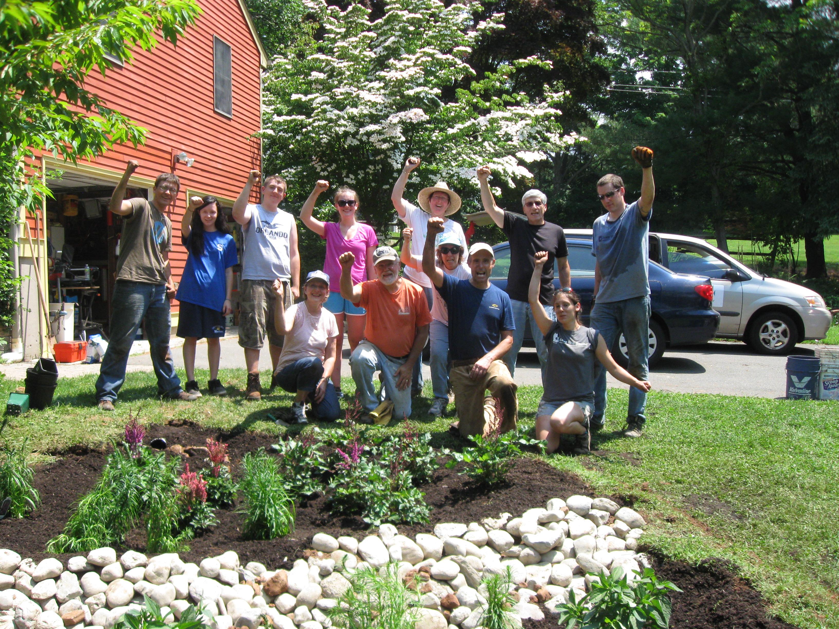 Another Completed Rain Garden! Our volunteers helped us build 9!