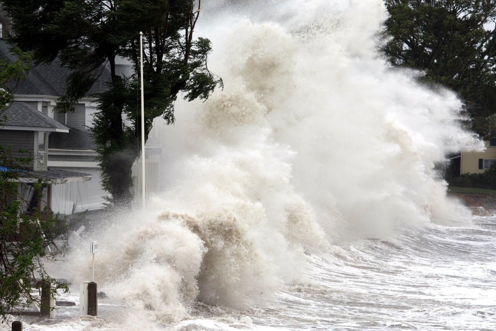 Hurricane Irene hits Branford