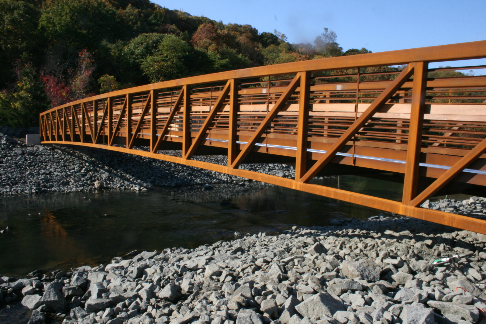 New walking bridge at Sunken Meadow