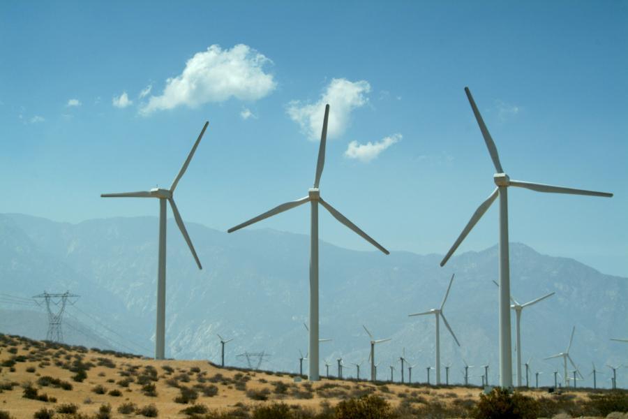 freefoto - wind farm san bernardino