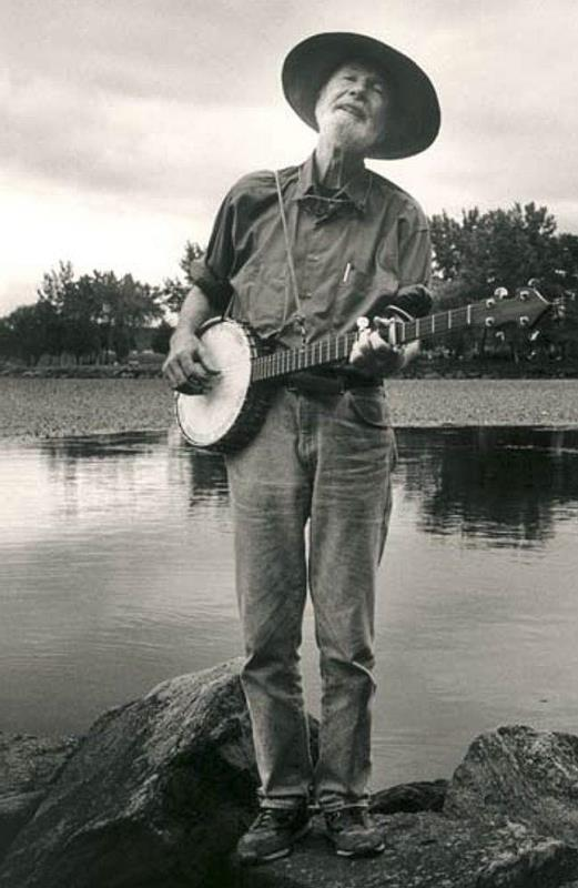 Pete Seeger by the water
