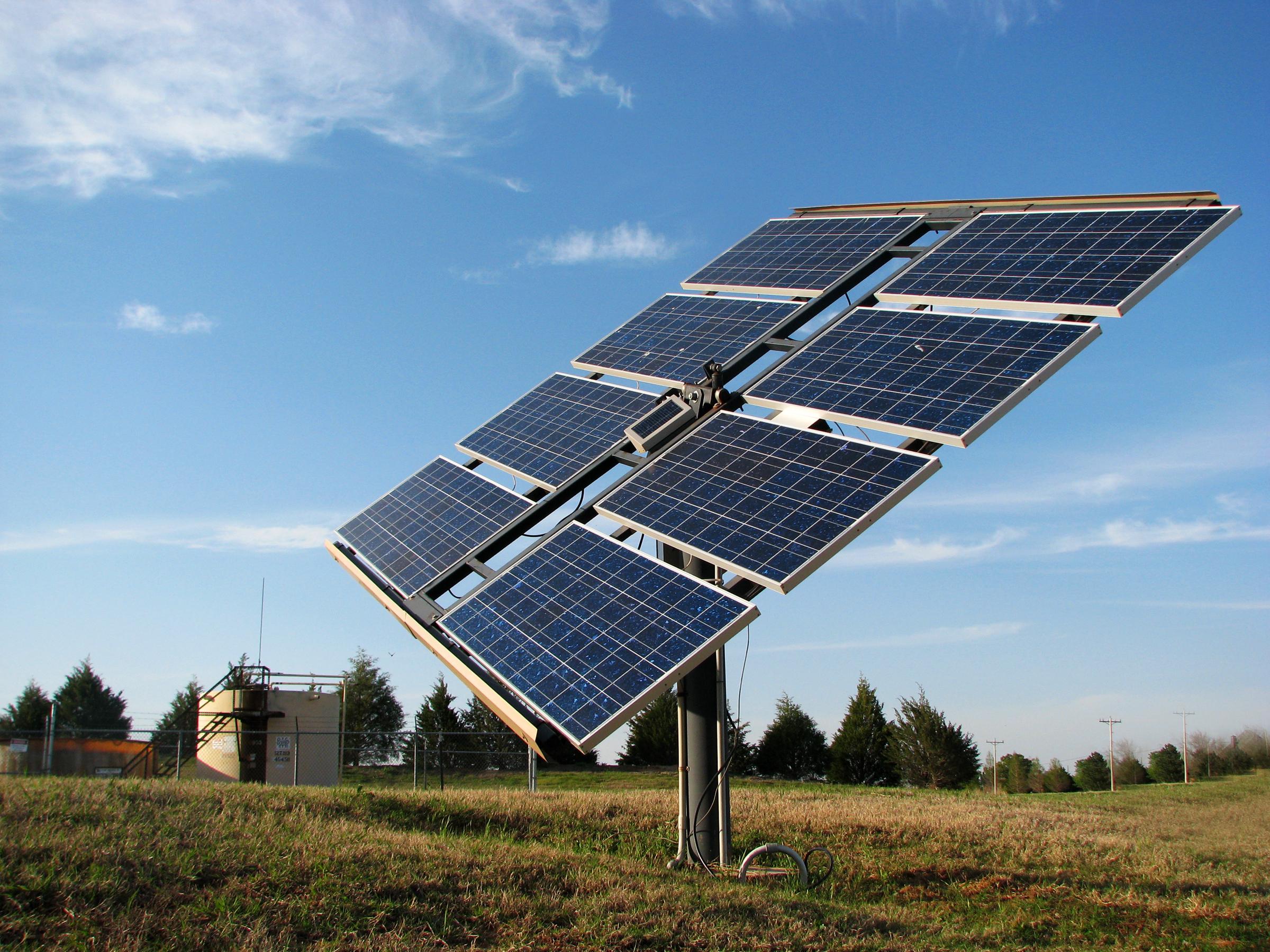 sxc - solar panel in field