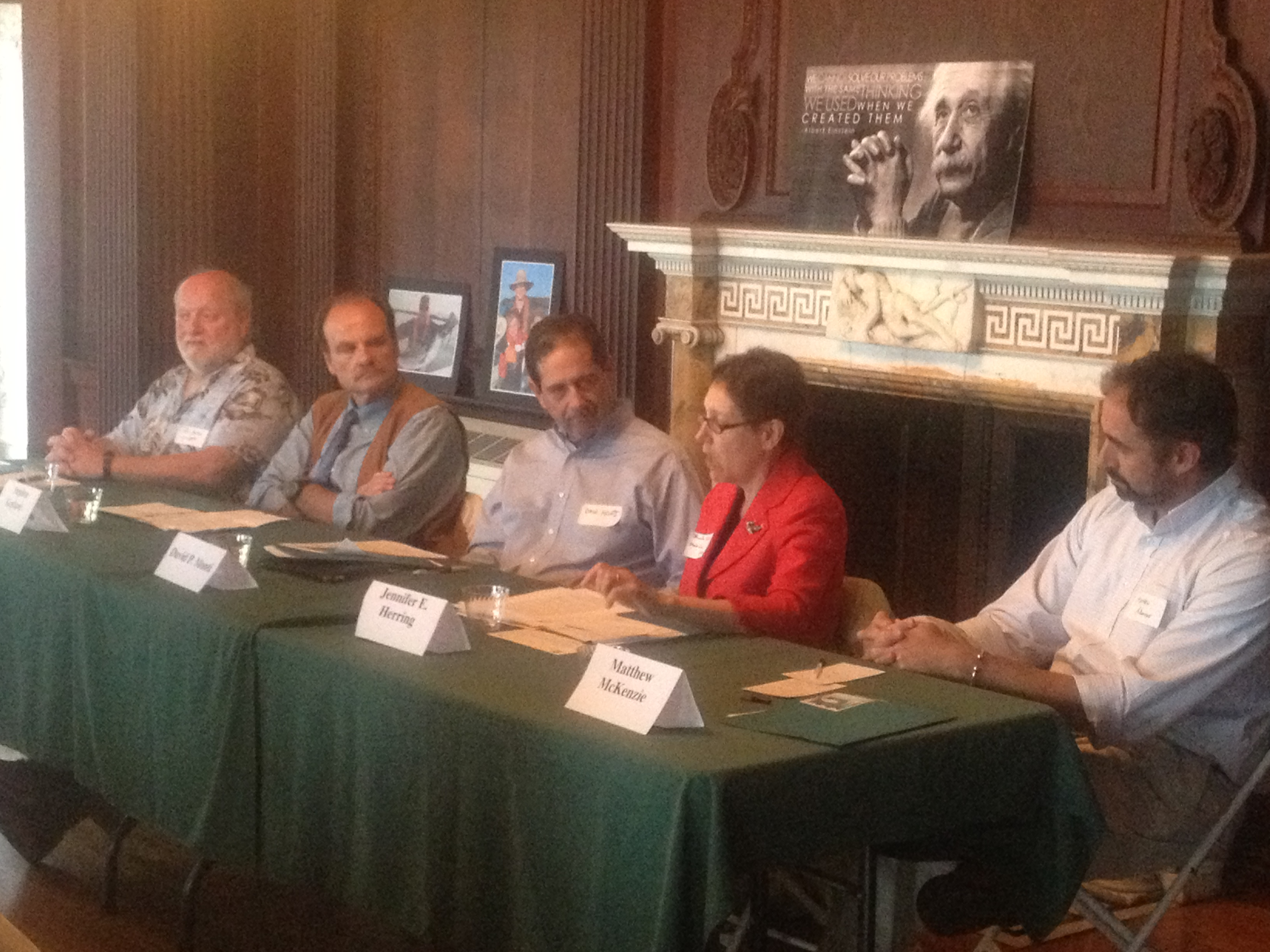 Forum panelists spoke about the need for an abundance of fish in our oceans, rivers, and Long Island Sound.