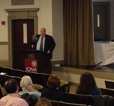Al Appleton speaks on the importance of citizen involvement in restoring Long Island Sound.