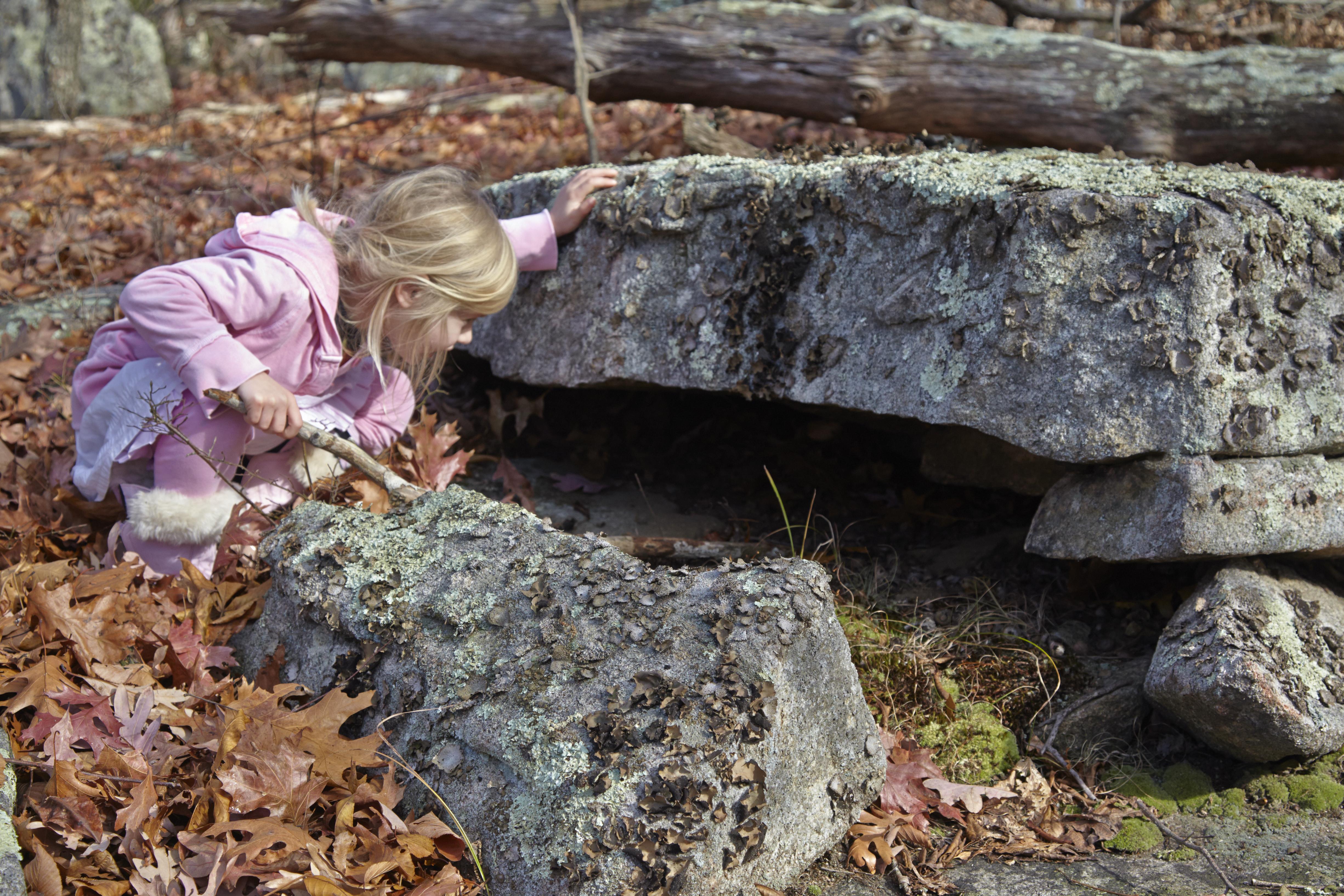 A child exploring The Preserve. Photo credit Bob Lorenz.