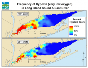 Hypoxia maps for 2001-2010 and 2011-2016