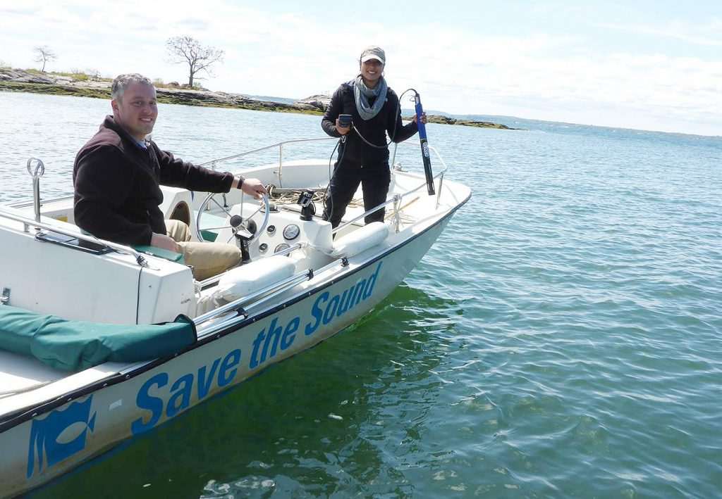 Save the Sound boat in Mamaroneck