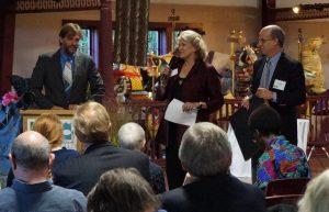 Leslie Lee, Joop Varekamp, Don Strait at annual meeting