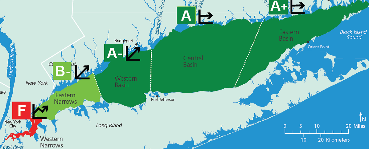 Long Island Sound Report Card Cfesave The Sound - Us-water-quality-map