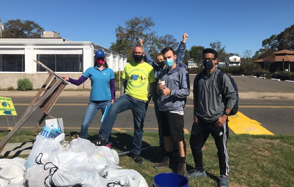 East Haven Town Beach cleanup, part of the 2020 Connecticut Cleanup
